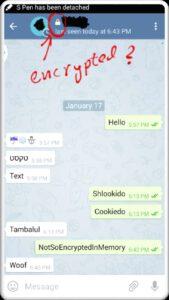 سکرت چت تلگرام