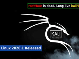 تغییرات جدید در Kali Linux 2020.1