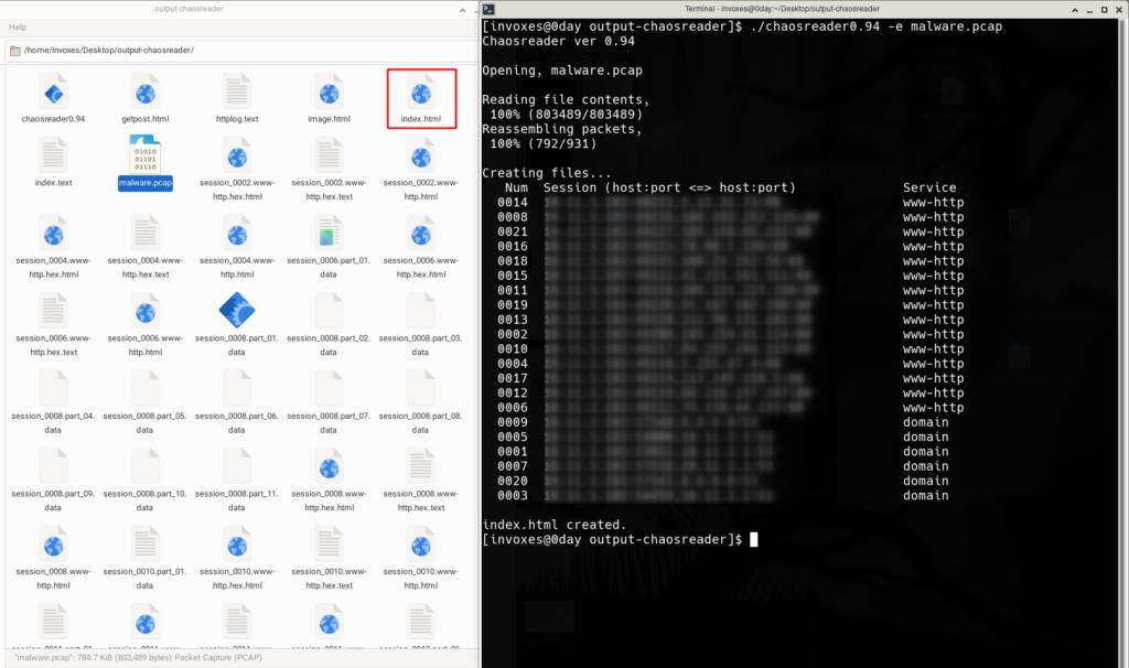 خروجی های html و hex