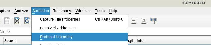 نوع ارتباط در wireshark